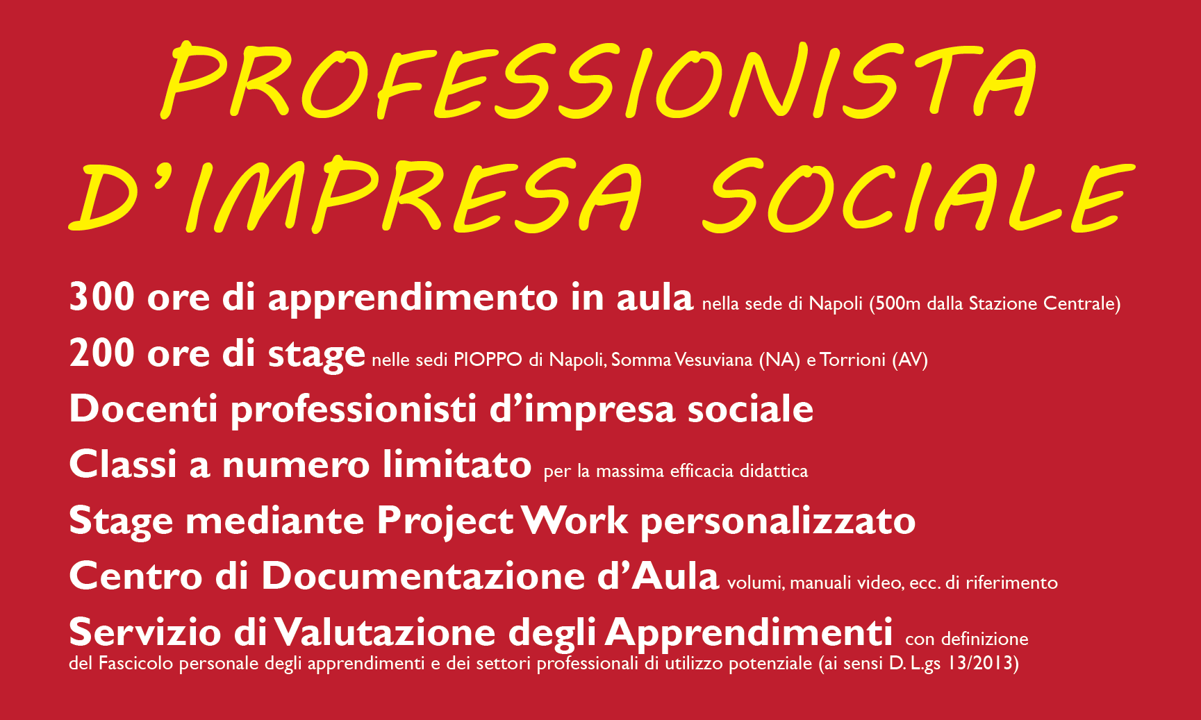 Diventare professionista d'impresa sociale