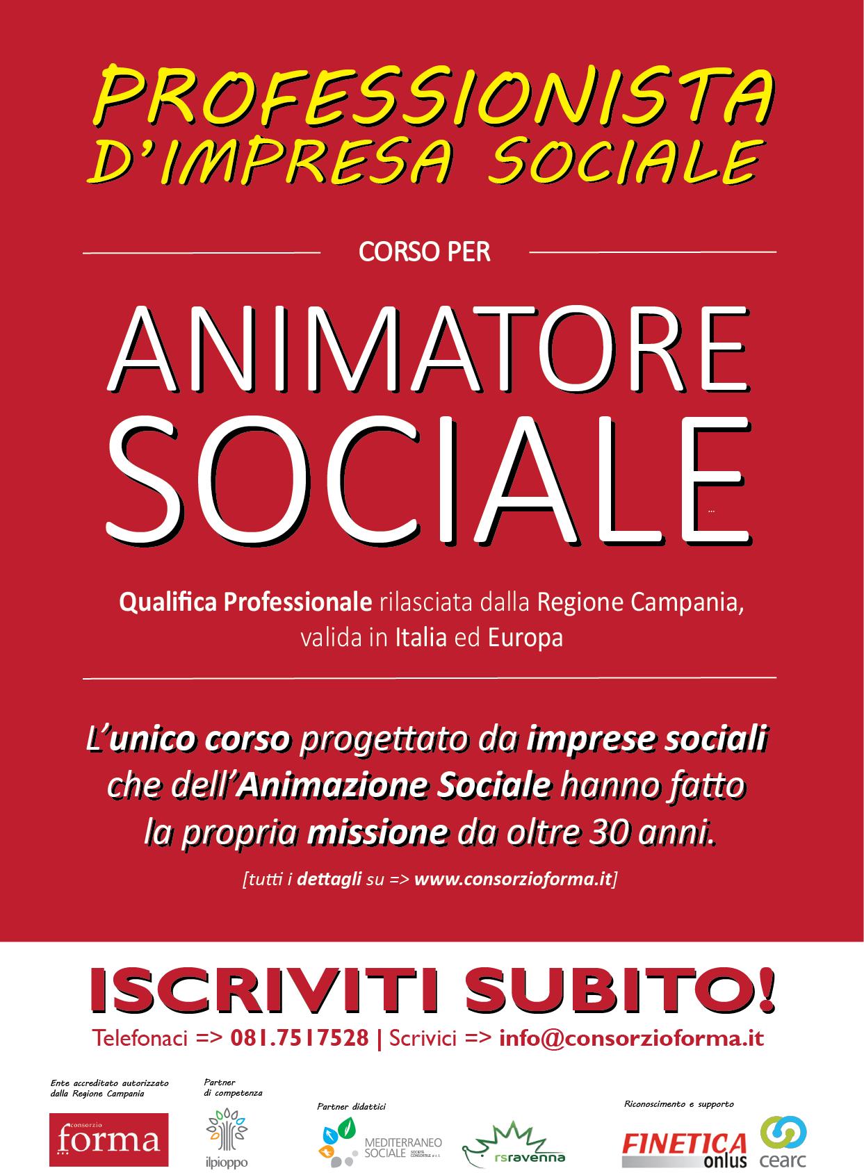 corso animatore sociale